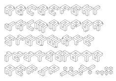 Cubik Left Light / Typeface design