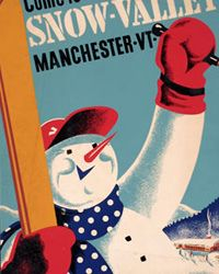 vintage Ski Poster - Snow Valley, VT