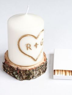 This DIY candle carved with initials is easy to make and it makes a great personalized gift for everyone in your circle.
