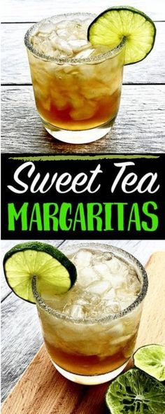 Sweet Tea Margaritas (A Southern Twist on a Classic Cocktail! Cocktails Sweet Tea Margaritas (A Southern Twist on a Classic Cocktail! Party Drinks, Cocktail Drinks, Fun Drinks, Healthy Drinks, Cocktail Recipes, Beverages, Sweet Tea Cocktail, Best Drinks, Cocktail Ideas