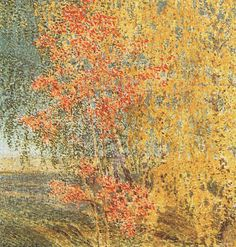 Autumn Rowan Tree and Birches - Igor Grabar