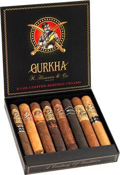 Gurkha Godzilla Sample Pack 8 verschillende longfiller sigaren in diverse smaken in geschenkverpakking 1 - Assassin XO Maduro 1 - Beast XO Natural 1 - Beauty XO