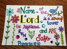 Heather's Divine Designs Sharing God's Word Through Art Proverbs 18:10  Custom Made Scripture Note Cards  www.heathersdivinedesigns.com