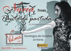 Afiche para el show de la cantante Nuria en el Velma Café donde presentó Punto de Partida