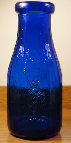 Cobalt glass bottle