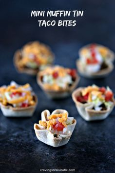 Mini Muffin Tin Taco Bites from cravingsofalunatic.com- Bite size taco cups made in mini muffin tins. These Mini Muffin Tin Taco Bites are perfect for the kids for lunch, dinner, or snacking. They also make great appetizers for parties. #sponsored #bornonthefarm