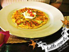 Egg Tortilla with squash blossoms is called 'Tortilla campestre'