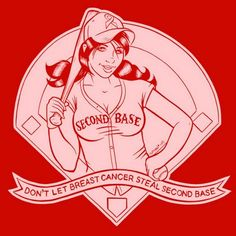 "Super Punch: ""Don't let cancer steal second base"" t-shirt"