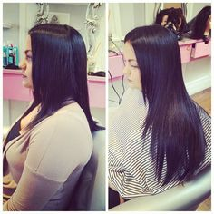 Talk about #transformationtuesday!  Some #hotheads action for length and volume . If you're not looking for a commitment pick up our @beautifu.ly clip-in extensions for perfect event hair every time!  #bloout #blowdrybar #hairextensions #Beautifuly #BeautifulyHairExtensions #fb #twitter #longhair #volume #hairgram #hairstyle #phillysalon #phillyhair #PhillyExtensions