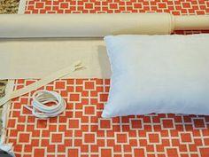 How To Make Pillows With A Trim Edge & Zipper Closure.