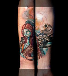 Nightmare before Christmas,done at Extreme Tattoo&Piercing Inverness,Highland, Scotland by Catalin Gal.At our studio,you can get all kind of tattoos and piercings, like Realistic, Black and grey tattoo, Japanese tattoo, Traditional, Floral, Fine line art tattoo, Old school tattoo, Tribal Tattoo, Maori tattoo, Religious tattoo, Pin-up tattoo, Celtic tattoo, New school tattoo, Oriental tattoo, Biomechanical tattoo and lots of other designs .For bookings, email studio@tattooscotland.co.uk!