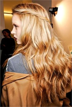 Pre-spring hairstyle