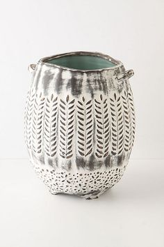 White gray with texture. Love this pottery