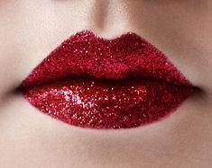 Ciaté London - Glitz Fix, get the look. Beauty Bar, Beauty Makeup, Hair Makeup, Hair Beauty, Glitter Lips, Red Glitter, Glitter Shoes, Glitter Eyeshadow, Lip Art