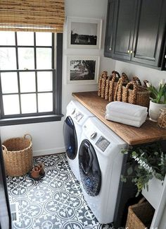 Love the tile in the laundry room