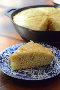 Rustic Sweet Cornbread with Honey Butter ~ http://www.fromvalerieskitchen.com