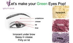 Younique All Natural Mineral Eye Pigments.
