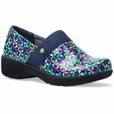 bd230b97ea52e5 Slip into a pair of Dansko Camellia pinwheel print shoes