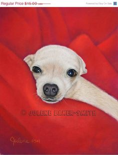 HOLIDAY SALE Chihuahua Art  Chihuahua Dog  Chi in a by ArtByJulene