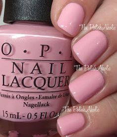 OPI:  What's The Double Scoop? ... a light bubblegum dusty PINK creme nail polish from the OPI Summer 2016 Retro Summer Collection
