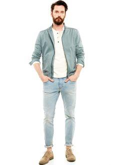 H.E. BY MANGO - Washed cotton jacket #SS14 #MENSWEAR