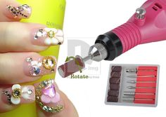 Electric Pen Carver Nail Art File Drill Manicure Tool on Linkdelight