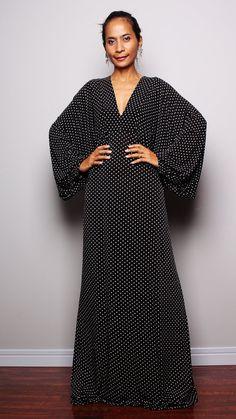 Kimono Maxi Dress  Funky Summer Dress Funky Elegant by Nuichan, $59.00