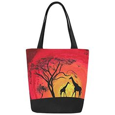 LEISISI Fashion oil painting Tree Durable drawstring tote bags