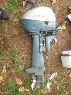 """Scott-Atwater gold """"pumpkinseed"""" 10 horse. this motor was seized if I recall. sold it as a seized motor on ebay. kinda tough to find"""