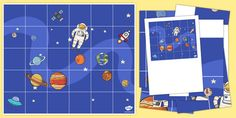 * NEW * Space Themed Bee Bot Mat