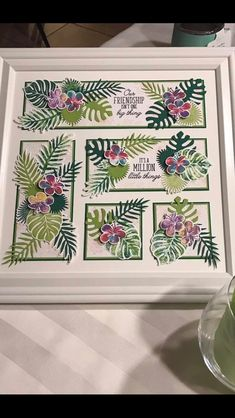 Zeige Barb - stampin up - Collage Frames, Collages, Shadow Box Frames, Cards For Friends, Home And Deco, Card Maker, Flower Cards, Paper Design, Diy Cards