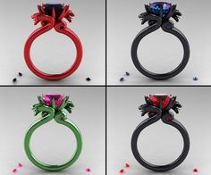 In my dreams! That green one! Dragon+Rings+|+DudeIWantThat.com