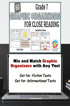 Common Core Reading Standards, 8th Grade Ela, Reluctant Readers, Fiction And Nonfiction, Close Reading, Graphic Organizers, Toolbox, School Teacher, Learning Activities