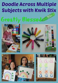 Greatly Blessed: Doodle Across Multiple Subjects with Kwik Stix #giveaway