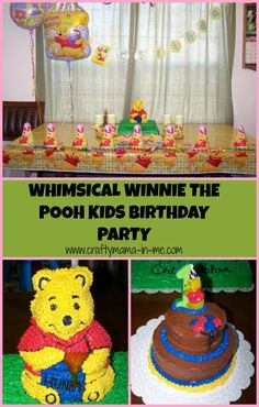 Whimsical Winnie the Pooh Kids Birthday Party - Crafty Mama in ME!