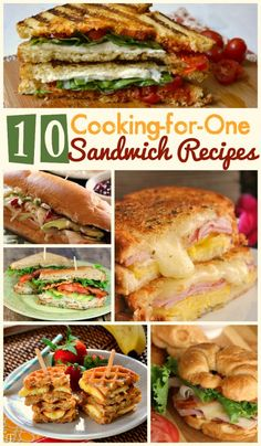 Sometimes you need dinner for one, and these sandwich recipes are a perfect solution! There are paninis, grilled cheeses, and even a peanut butter waffle recipe for your sweet tooth!