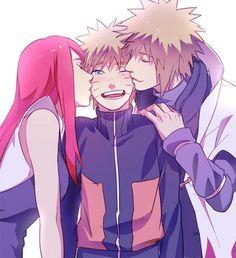 The Namikaze family as it should have been... Naruto kushina Minato