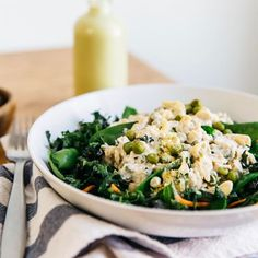 Rejuvenating end to the weekend: housemade almond milk + Kale brown rice bowl.
