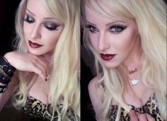 I have this fascination with tragic women and inspiration comes to me in many weird forms.like Nancy Spungen (late gf of Sex Pistols bassi. Makeup Geek, Hair Makeup, Deep Red Lips, Makeup Items, Dark Eyes, Perfect Makeup, Makeup Inspiration, Pretty Woman, Makeup Looks