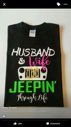 Husband & Wife Jeep Shirt by ThePeachyPost on Etsy - Wify Shirt - Ideas of Wify Shirt - Husband & Wife Jeep Shirt by ThePeachyPost on Etsy