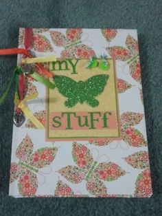 Hardback Journal My Stuff  80 pages by BitsNPiecesGifts on Etsy, $4.00