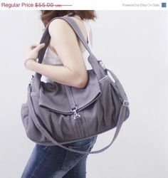 MOTHERS DAY SALE Classic in Gray - Shoulder Bag   Hobo   Tote   Purse   c369a6caae