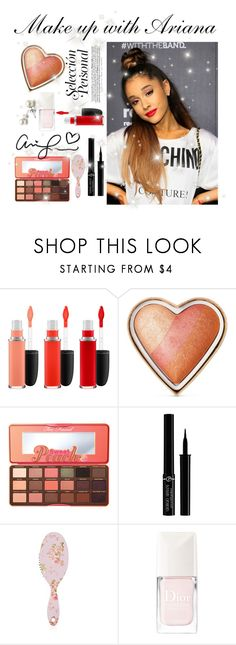 """Make up with Ariana"" by faanciella ❤ liked on Polyvore featuring MAC Cosmetics, Too Faced Cosmetics, Giorgio Armani, Forever 21 and Christian Dior"