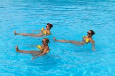"""The most important factor for improving cardiorespiratory fitness (cardio or CR) is the intensity of the workout. Changes in CR fitness are directly related to how """"hard"""" an aerobic exercise is performed. Water Aerobics Routine, Water Aerobics Workout, Water Aerobic Exercises, Swimming Pool Exercises, Pool Workout, Water Workouts, Swim Workouts, Swimming Pools, Bike Workouts"""