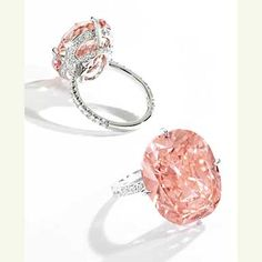 Magnificent Fancy Intense Orangy Pink Diamond and Diamond Ring, 15.23 carats  Estimate: $6,000,000-7,000,000 | Sotheby's