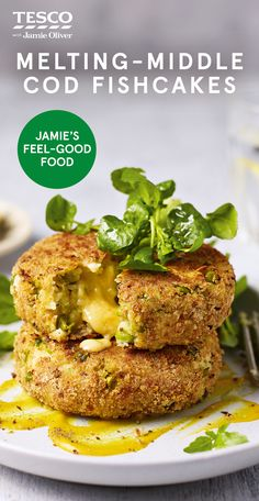 Try Jamie Oliver's oozy fishcake recipe, packed with flaky cod, mustard and a delicious melting cheddar centre. Find more Healthy recipes at Tesco Real Food. Seafood Recipes, Vegetarian Recipes, Cooking Recipes, Healthy Recipes, All You Need Is, Fish Cakes Recipe, Quinoa Cake, Fishcakes, Tesco Real Food