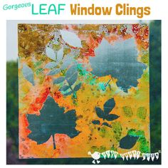 FALL LEAF ART - Make removable window paintings/window clings. A beautiful Fall leaf craft activity that captures the Nature's magic and brings all the beautiful colours inside. Autumn Activities For Kids, Fall Crafts For Kids, Art Activities, Art For Kids, Autumn Crafts, Autumn Art, Autumn Theme, Autumn Forest, Autumn Leaves