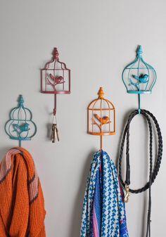 Colorful Birdhouse Hooks
