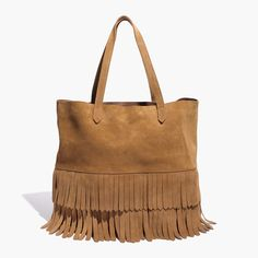 Madewell The Transport Tote Suede Fringe Edition Coats Jacket Purse