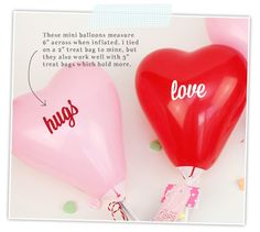 DIY Mini Balloon Valentines | Damask Love Blog